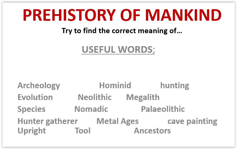 Prehistory of Mankind