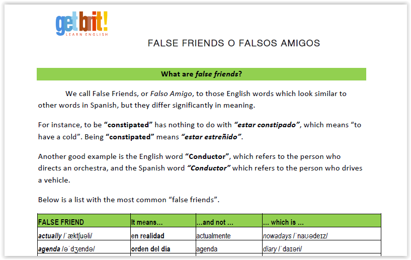 false friends list get brit