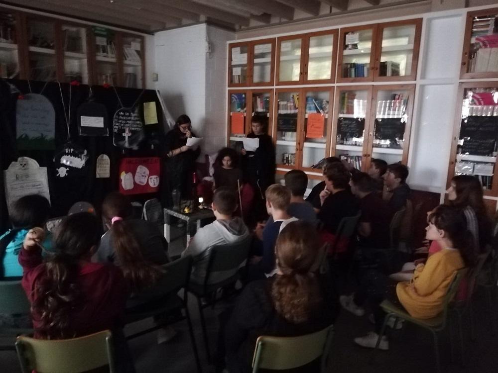 alumnado_de_3_de_ESO_contando_La_Promesa_de_Becquer